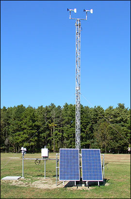 10-meter and 2-meter meteorological stations