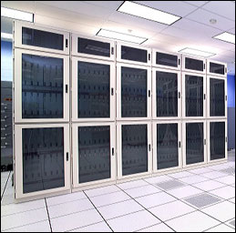 Photo of QCDOC supercomputer