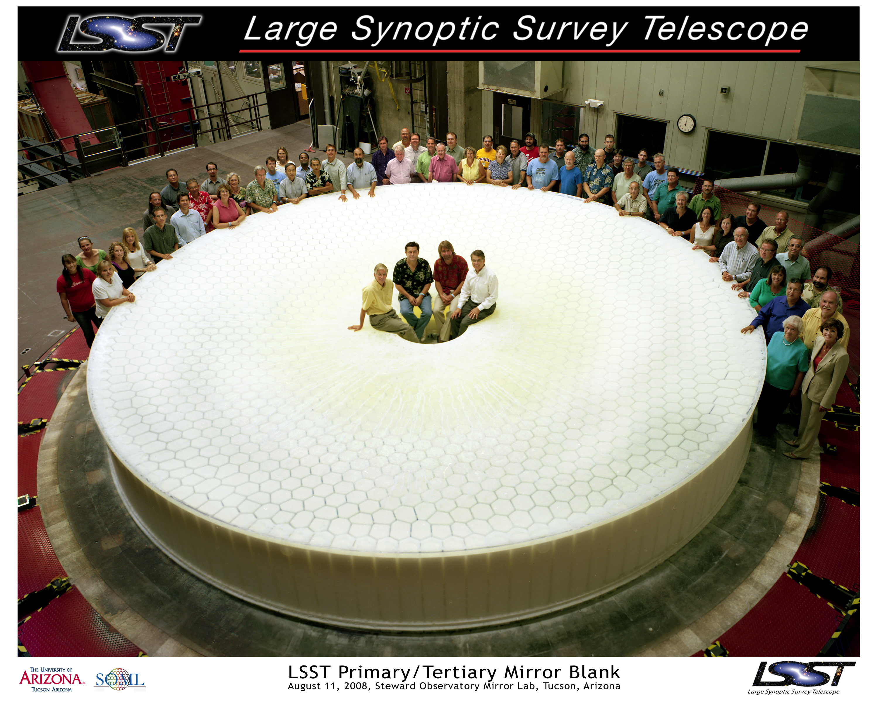 BNL Newsroom | Giant Furnace Opens to Reveal 'Perfect' LSST Mirror ...