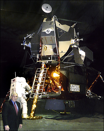 Zito in front of a real lunar module