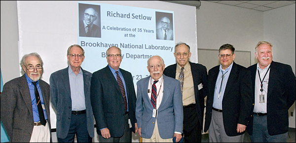 Richard Setlow Honored