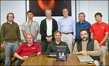 Several members of the BNL Journal Club, who meet weekly to discuss astronomy and astrophysics relev