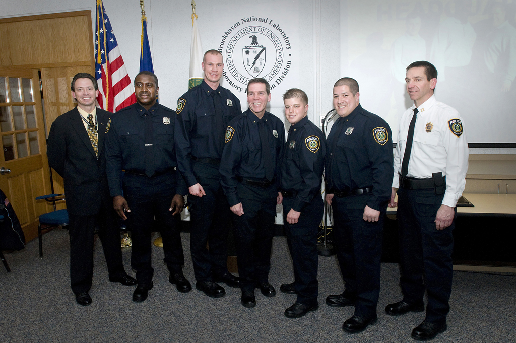 bnl welcomes five new police officers bnl newsroom