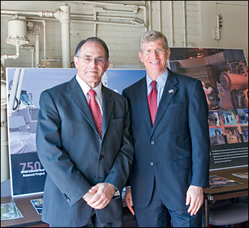 Deputy Energy Secretary Daniel Poneman and Lab Director Sam Aronson