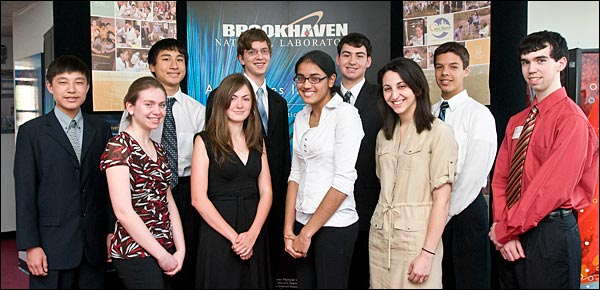 The winners of Brookhaven Lab's Science and Society Essay Contest
