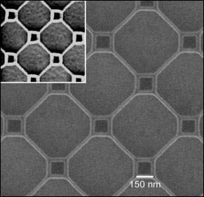 superconducting thin film patterned with nano-loops