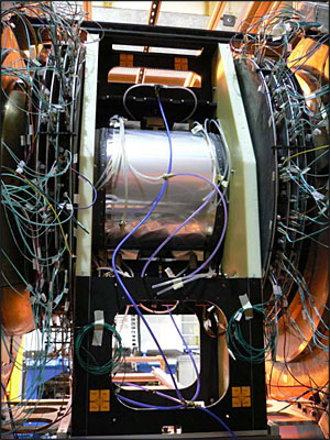 PHENIX Vertex detector (VTX) installed on the beamline at PHENIX
