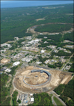 Aerial photo of Brookhaven National Laboratory
