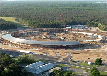 National Synchrotron Light Source II under construction.