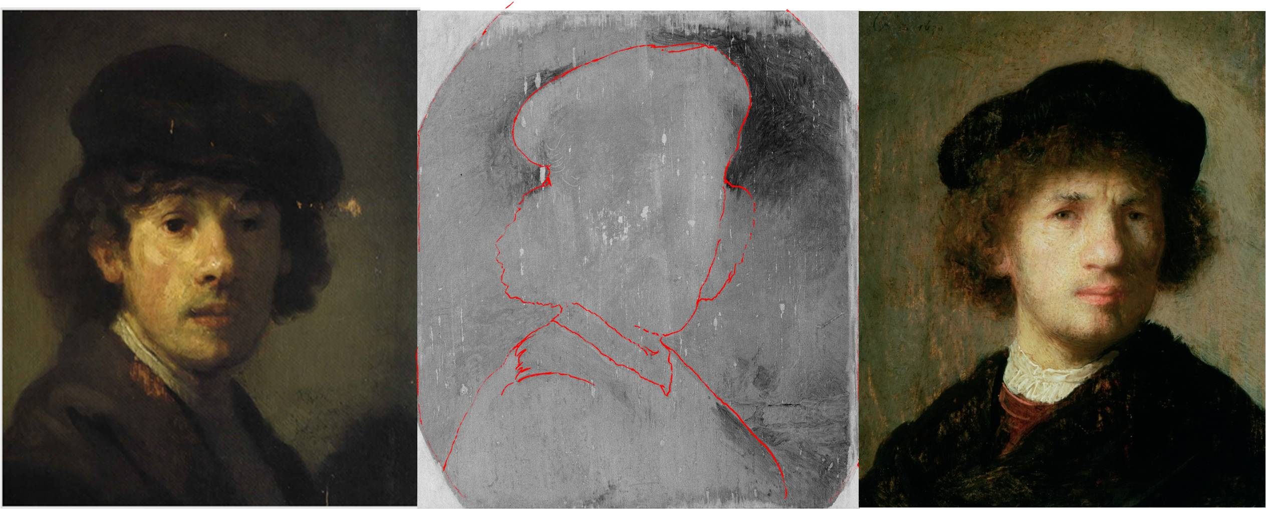 Using x rays to peel back the layers of a purported for X ray painting