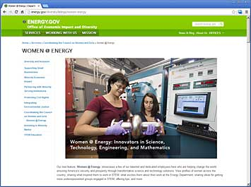 "U.S. Department of Energy's ""Women @ Energy"" series"