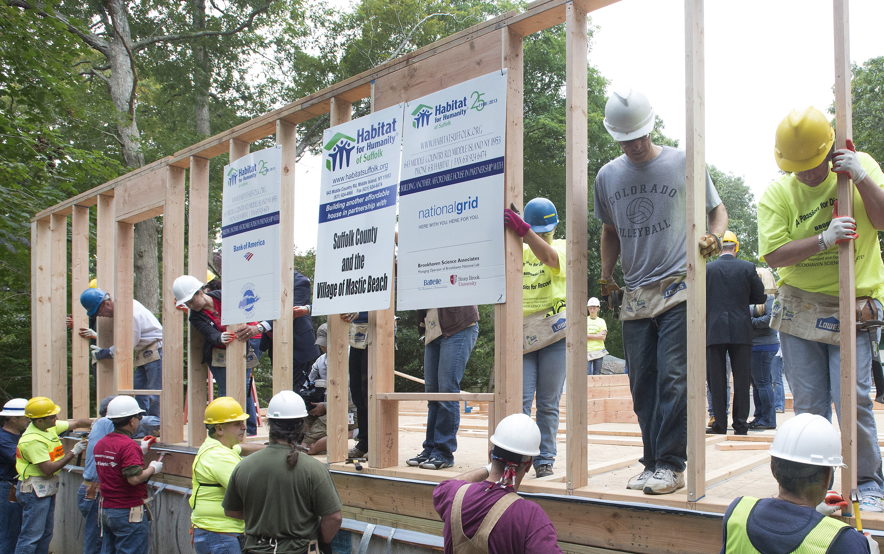 Brookhaven lab employees help build a home for local for Help building a house