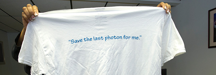 save the last photon for me t-shirt