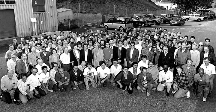 The Booster staff in 1998
