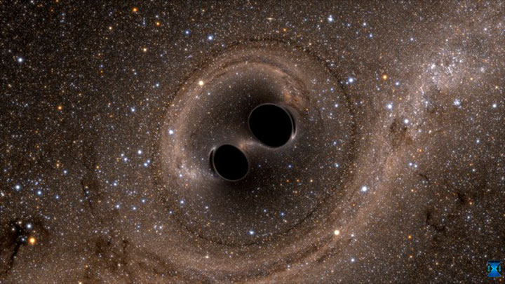 The collision of two black holes