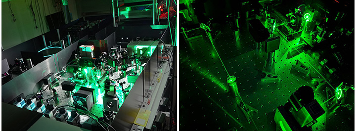 Green Laser in operation