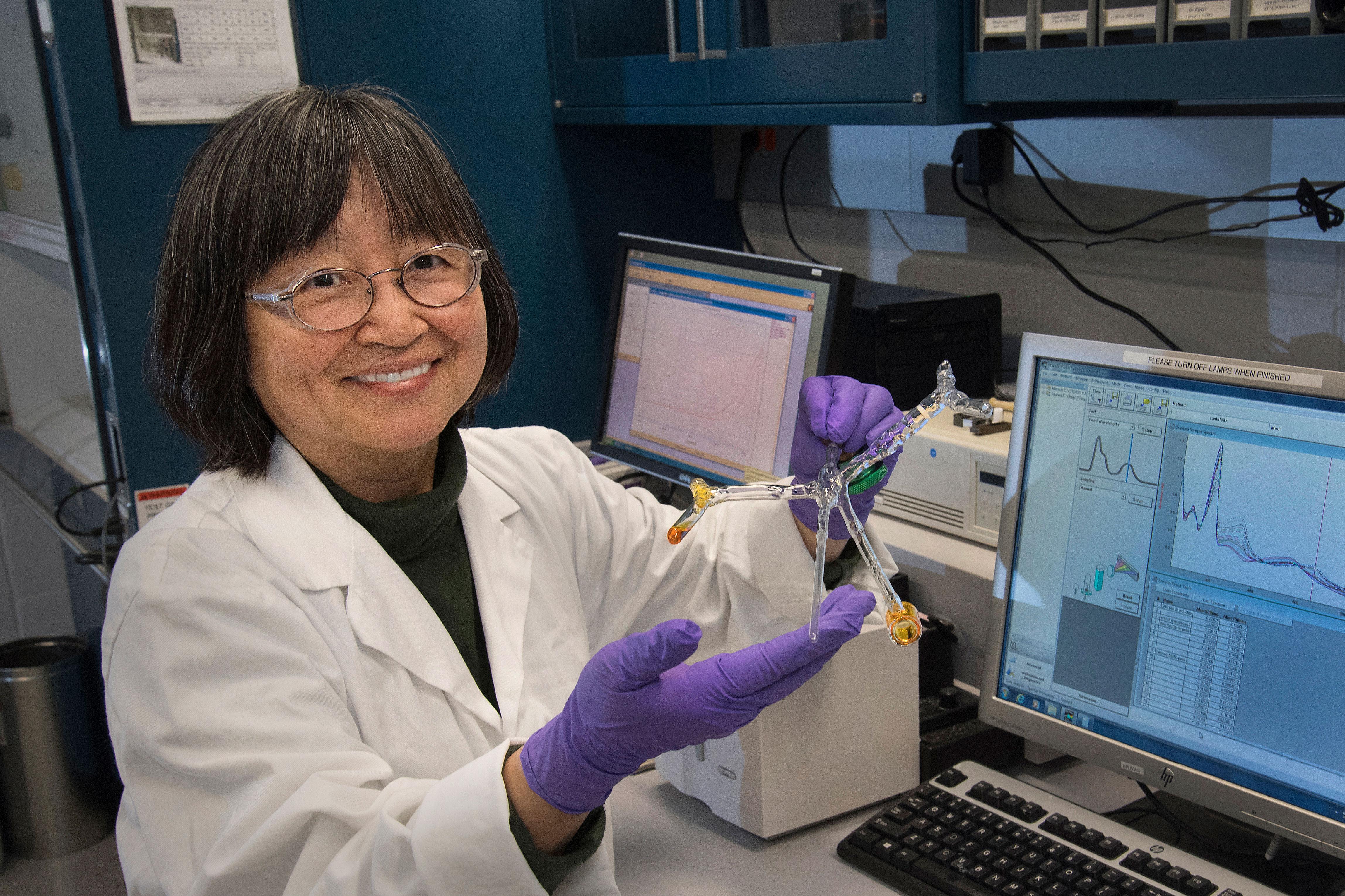 click on the image to download a high resolution version brookhaven lab chemist etsuko fujita