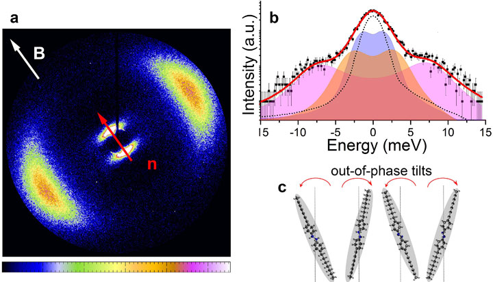 colorful scattering pattern reveals molecular level information layered smectic phase of liquid crys