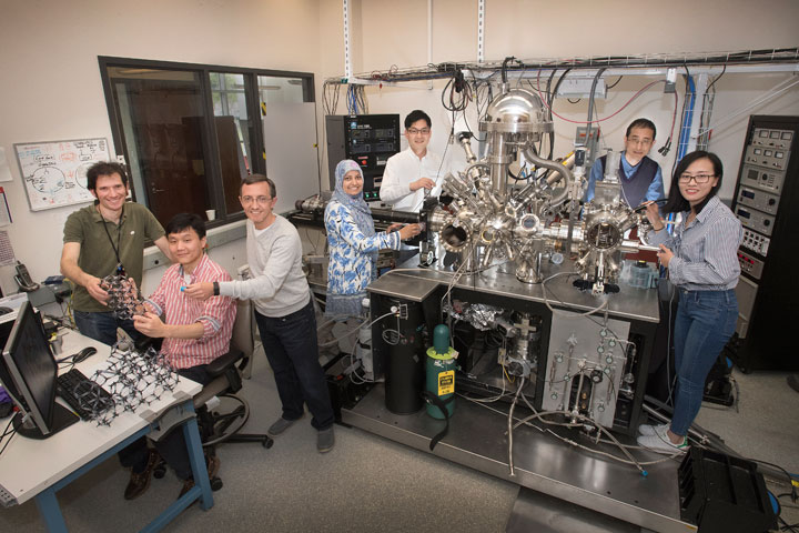 team of scientists trapping individual argon gas atoms