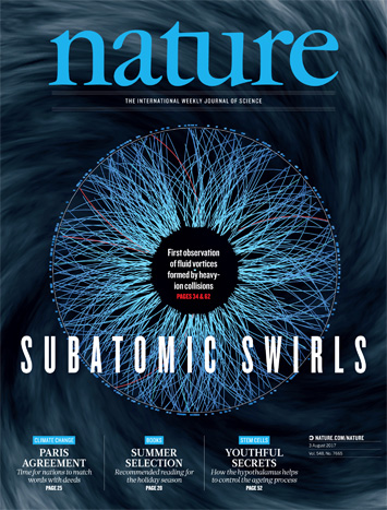 The STAR collaboration's findings featured in Nature Magazine
