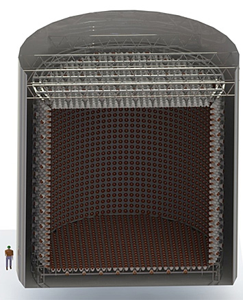cutaway view of the WATCHMAN antineutrino detector