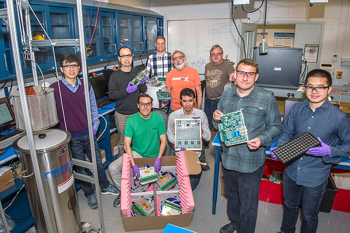 Scientists and students in Brookhaven Lab's physics department and instrumentation division