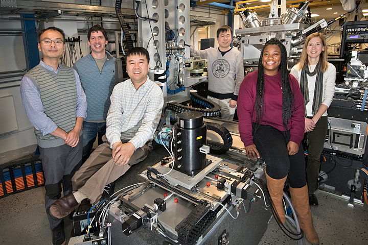 The research team at NSLS-II's Hard X-ray Nanoprobe.