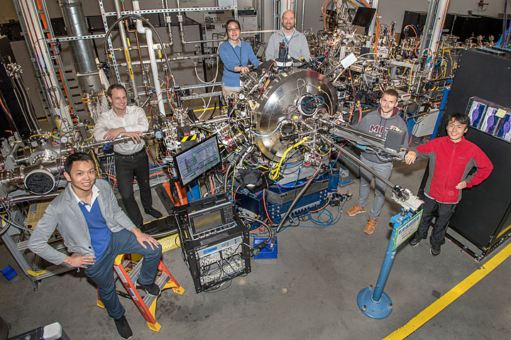 Members of the research team at the CSX beamline