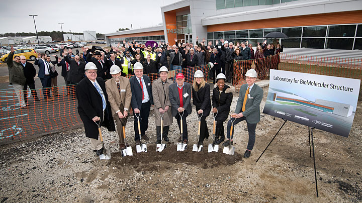 Photo of the CryoEM groundbreaking