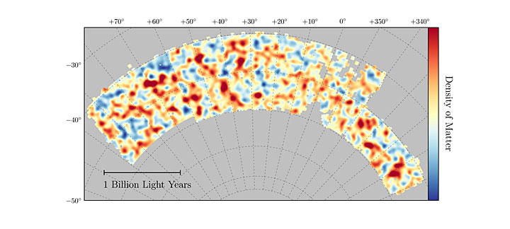 Map of dark matter