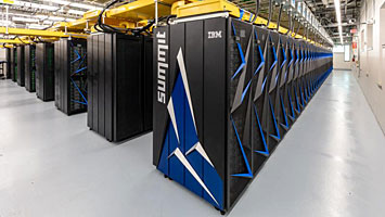 The Summit supercomputer. Credit: Oak Ridge National Lab