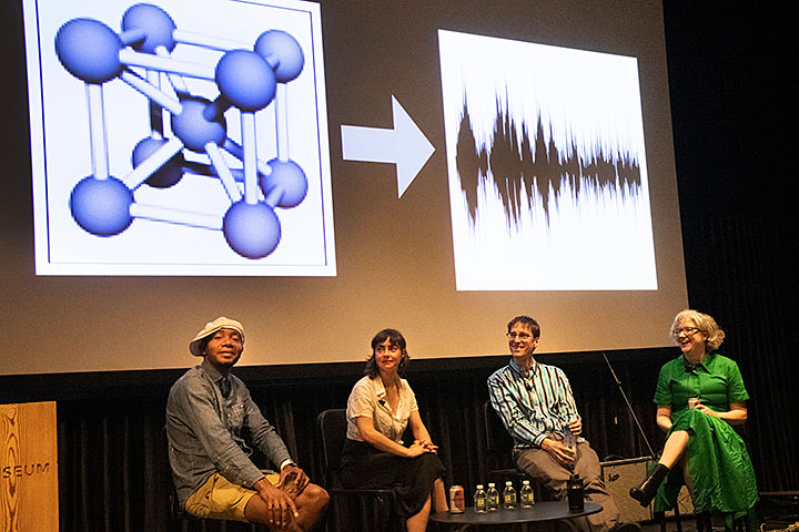 Paul D. Miller a.k.a. DJ Spooky, Melissa Clarke, Kevin Yager, and Margaret Schedel