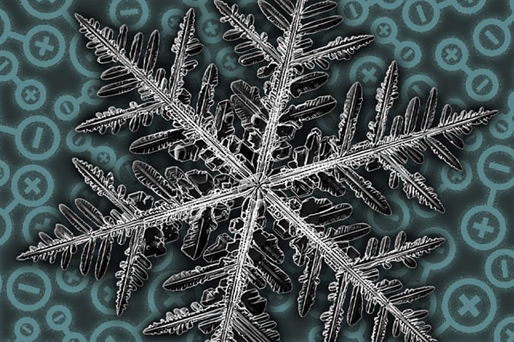 a snowflake's geometric fractals