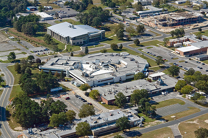 An aerial view of NSLS