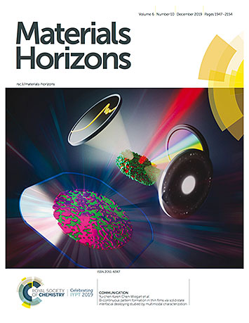 cover of the Nov. 18 online issue of Materials Horizons