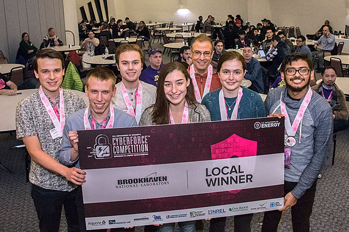 local Brookhaven winners of the 2019 CyberForce Competition.