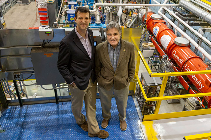 Photo of Hoffstaetter and Trbojevic at the CBETA facility