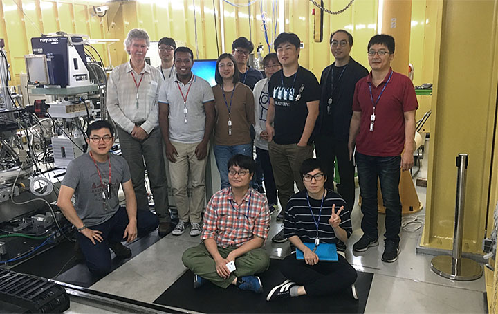 Part of the team at the Pohang Accelerator Laboratory X-ray Free-Electron Laser (PAL-XFEL) in South