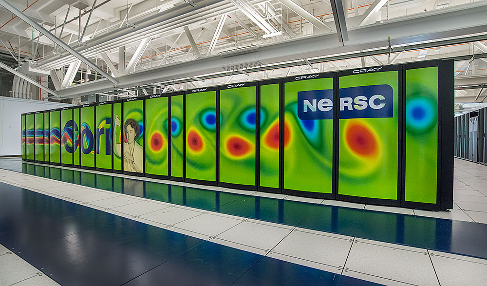 Photo of Cori supercomputer