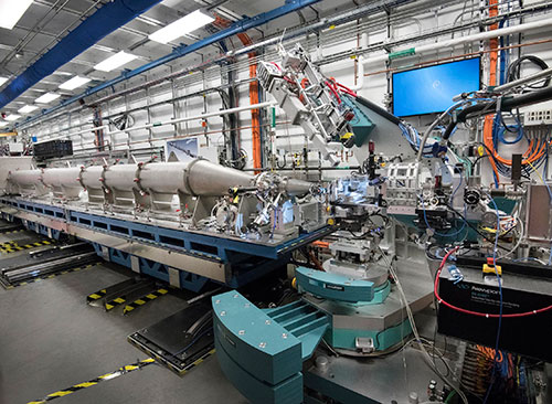 Photo of Coherent Hard X-ray Scattering (CHX) beamline
