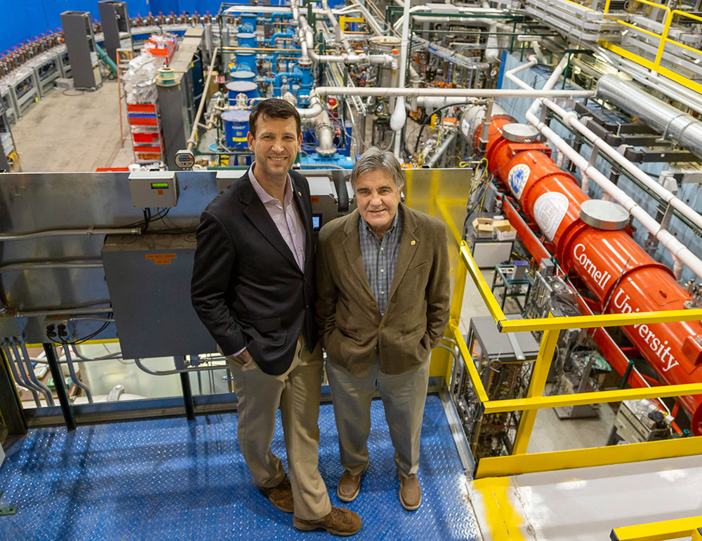 Photo of Georg Hoffstaetter and Dejan Trbojevic at the CBETA facility at Cornell University