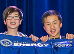 Middle School Science Bowl winners