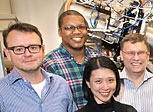 Researchers at the ISS beamline