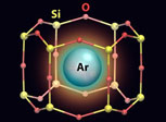 Argon atom trapped inside a 2-D zeolite cage