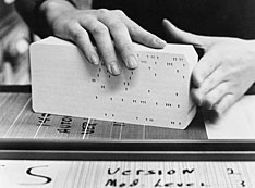 Nuclear data entered into punch card