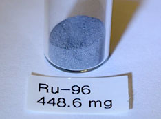 500 milligrams of the rare isotope ruthenium-96