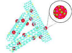 Illustration of Pt/graphene catalyst