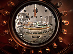 The sample chamber of the Soft Inelastic X-ray Scattering (SIX)