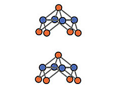 A schematic of the arrangement of the Se and Fe atoms