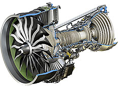 GEnx high+low pressure turbine rendering